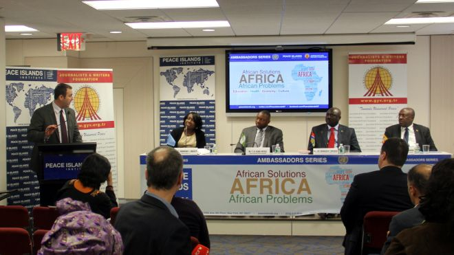 Ambassadors Series Panel Seeks African Solutions to African Problems
