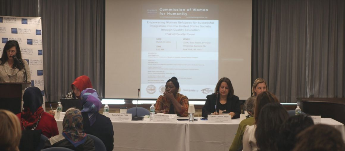 """CSW 60 Side Event: """"Empowering Women Refugees for Successful Integration into the United States Society through Quality Education"""""""