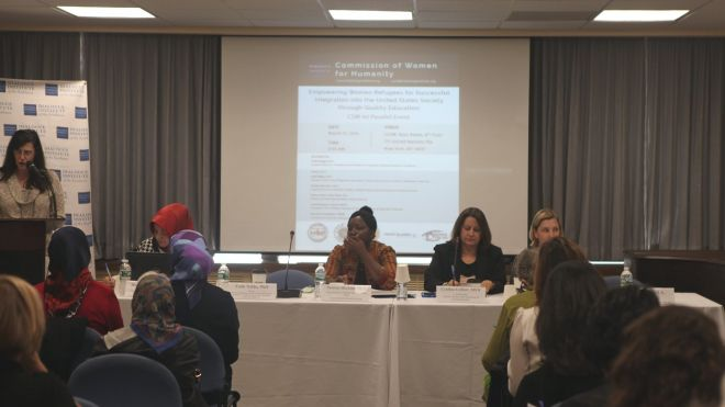 "CSW 60 Side Event: ""Empowering Women Refugees for Successful Integration into the United States Society through Quality Education"""