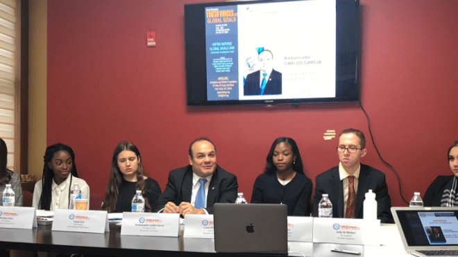 Youth Voices on Global Goals panel aimed to introduce the United Nations Sustainable Development Goals