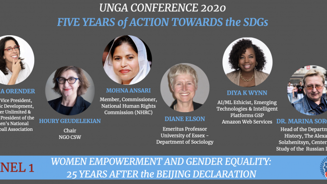 UNGA CONFERENCE 2020 - Panel 1: Women Empowerment and Gender Equality: 25 Years after the Beijing Declaration
