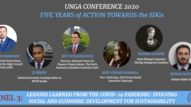 UNGA CONFERENCE 2020 -  Panel 3 - Lessons Learned from Covid-19 Pandemic: Evolving Social and Economic Development for Sustainability